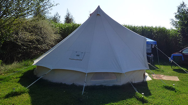 Campsite bell tents
